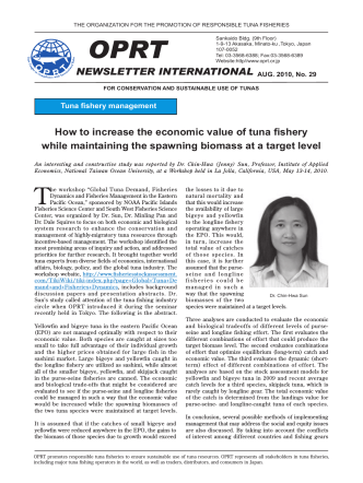 NEWSLETTER INTERNATIONAL AUG. 2010, No. 29 How to