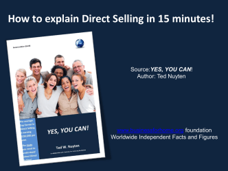 How to explain Direct Selling in 15 minutes! - Business For Home