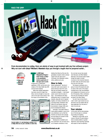 HACK THE GIMP How to help Your mission