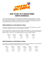HOW TO SET UP A ROUND ROBIN MATCH SCHEDULE