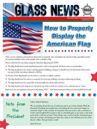 How to Properly Display the American Flag - Houston Area Glass
