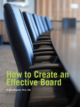How to Create an Effective Board - Association Management Center