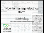 How to manage electrical storm - Heart Rhythm Congress