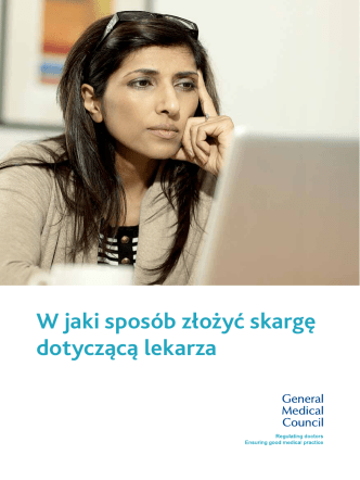 How to complain - Polish version - General Medical Council