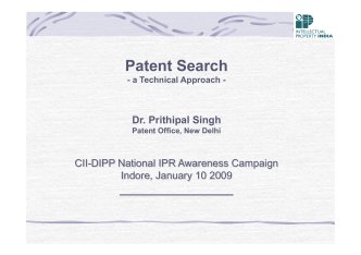 How to develop a search strategy - Controller General of Patents