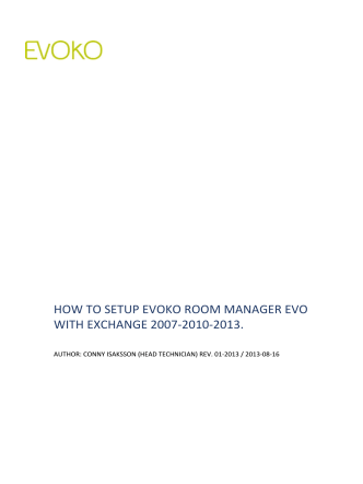 HOW TO SETUP EVOKO ROOM MANAGER EVO WITH