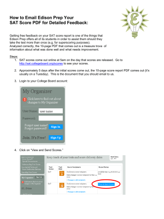 How to Email Edison Prep Your SAT Score PDF for Detailed