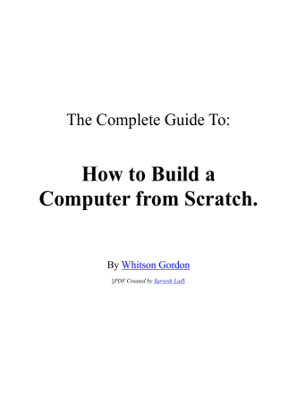 How to Build a Computer from Scratch. - Lifehacker