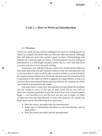 Unit 1 How to Write an Introduction
