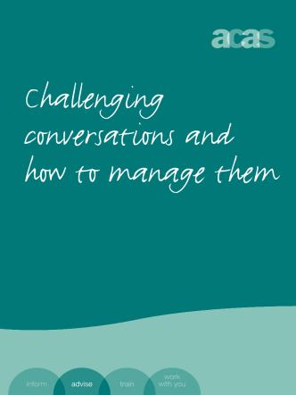 Challenging conversations and how to manage them - Acas