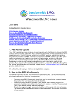 June 2012 1. PMS Review Update 2. How to Use EMIS Web Securely