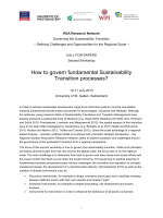 How to govern fundamental Sustainability Transition processes?