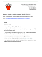 How to obtain a valid national POLICE CHECK - La Lingua