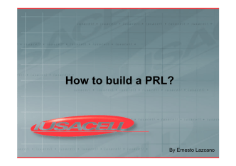 How to build a PRL? - ifast