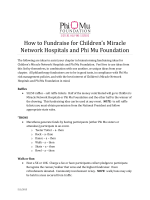 How to Fundraise for Childrens Miracle Network Hospitals and Phi