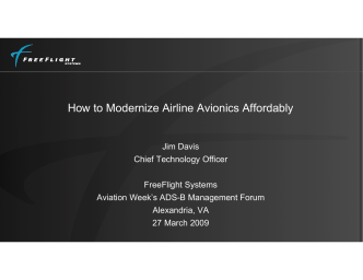 How to Modernize Airline Avionics Affordably - Aviation Week Events