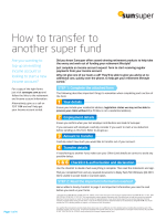How to transfer to another super fund - Sunsuper