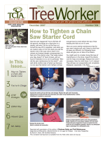 How to Tighten a Chain Saw Starter Cord - Tree Care Industry