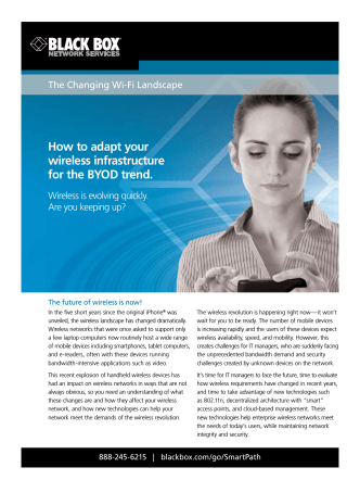 How to adapt your wireless infrastructure for the BYOD - Black Box