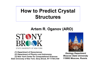 How to Predict Crystal Structures