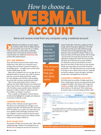 How to choose a webmail account - u3asitec.org.uk