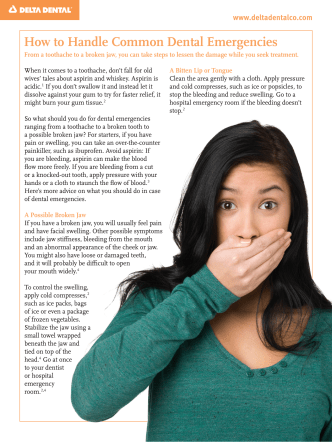 How to Handle Common Dental Emergencies - Delta Dental of