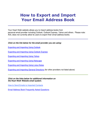 How to Export and Import Your Email Address Book - Heart Walk