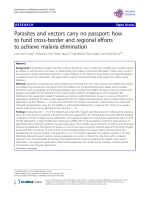 Parasites and vectors carry no passport: how to - Malaria Journal