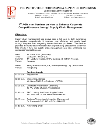 7 AGM cum Seminar on How to Enhance Corporate
