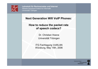 Next Generation Wifi VoIP Phones: How to reduce the packet rate of