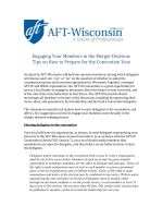 Engaging Your Members in the Merger Decision - AFT-Wisconsin