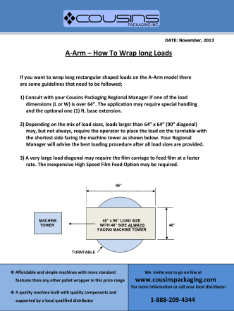 A-Arm – How To Wrap long Loads - Cousins Packaging Inc