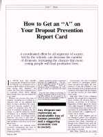 How to Get an A on Your Dropout Prevention Report Card - ASCD