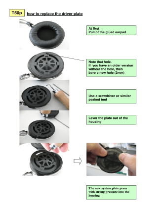 how to replace the driver plate