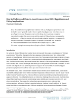 How to Understand Chinas Assertiveness since 2009: Hypotheses