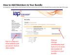 How to Add Members to Your Bundle - IAP2 Canada