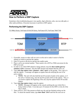 How to Perform a DSP capture - AOS 16 and above.pdf - ADTRAN