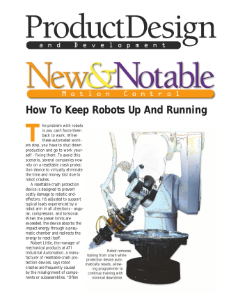 How To Keep Robots Up And Running - ATI Industrial Automation