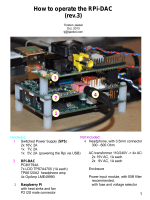 How to operate the RPi-DAC (rev.3)