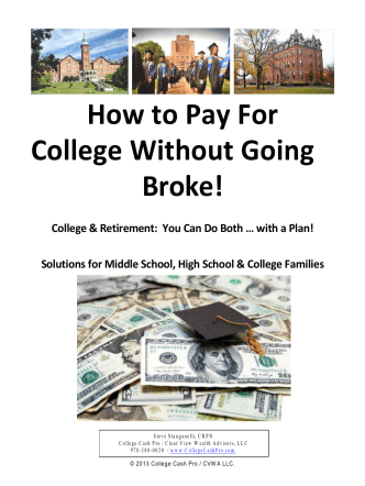 How to Pay For College W ithoutGoing Broke! - College Cash Pro