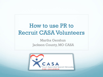 How to use PR to Recruit CASA Volunteers