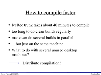 How to compile faster - DESY