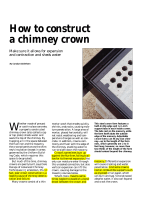 How to construct a chimney crown - Mr. Chimney Man