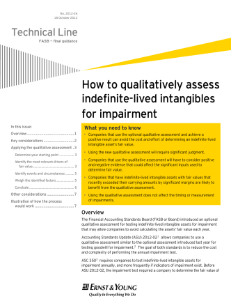 Technical Line: How to qualitatively assess - Ernst  Young