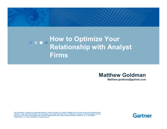 How to Optimize Your Relationship with Analyst Firms