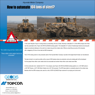 How to automate 104 tons of steel? 104 tons of steel? - Topcon at work