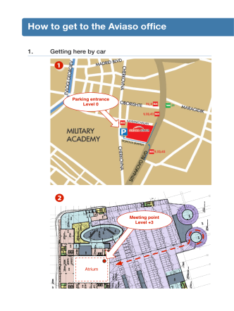 How to get to the Aviaso office