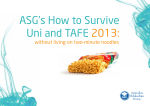 ASGs How to Survive Uni and TAFE 2013: