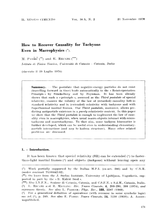 How to recover causality for tachyons even in macrophysics