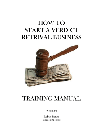 HOW TO - Verdict Retrieval Services